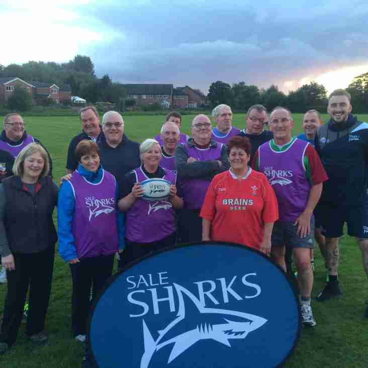 LIGHTER NIGHTS AND WALKING RUGBY AT TRAFFORD MV