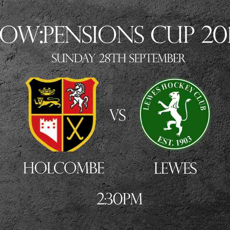 Men's 1's to face Holcombe in Now:Pensions Cup