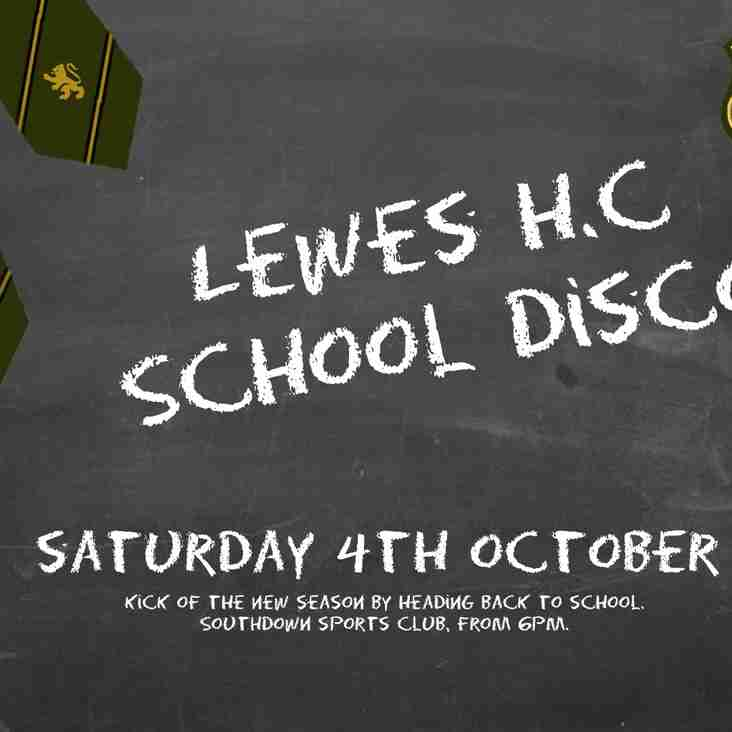 School Disco Social: October 4th