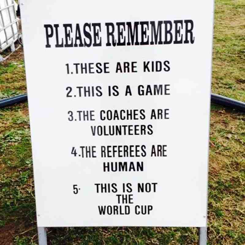 Remember what rugby is about!