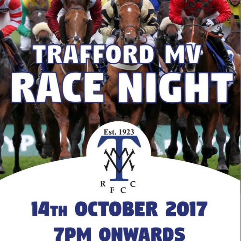 CLUB RACE NIGHT - SAT OCTOBER 14TH 7.30PM