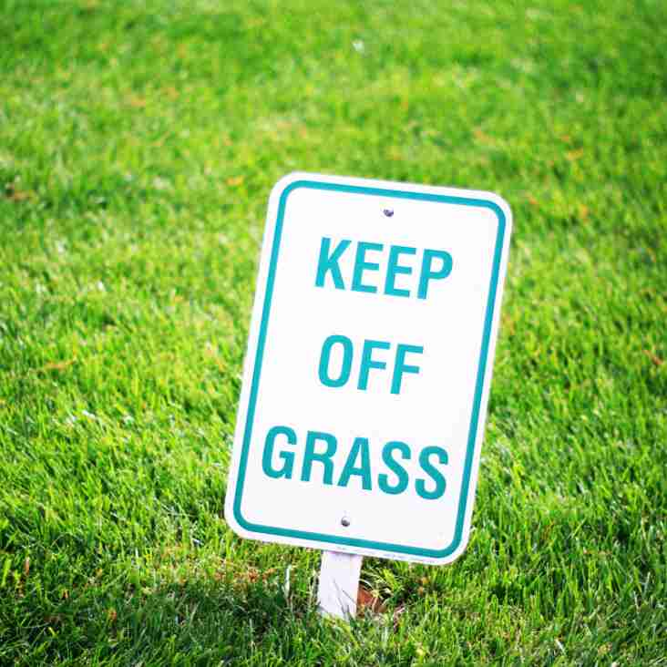 KEEP OFF THE GRASS - PLEASE !