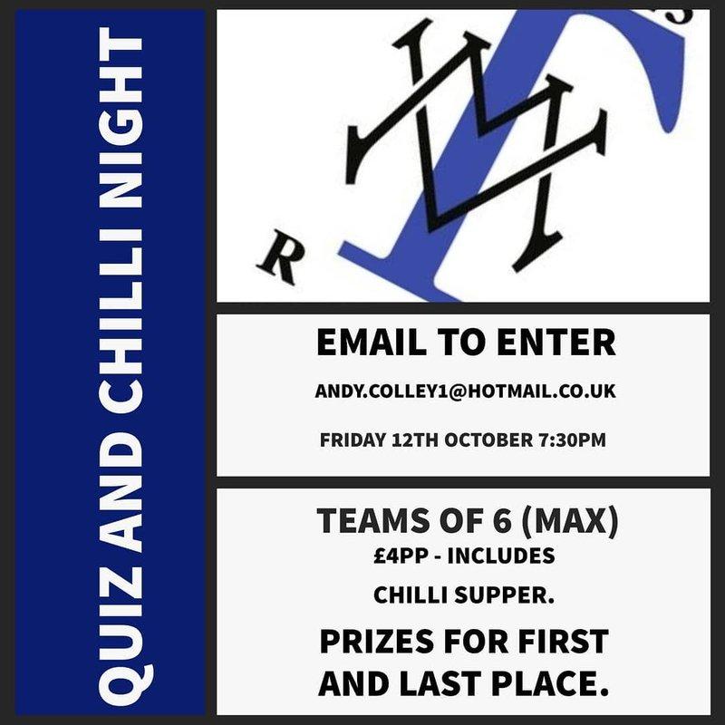TRAFFORD MV QUIZ AND CHILLI NIGHT - FRIDAY OCT 12TH