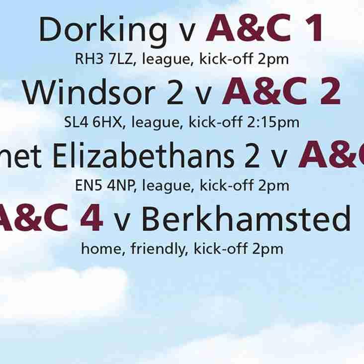 A&C fixtures - Sat 10 Dec