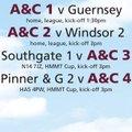 A&C fixtures - SAT 25 MARCH