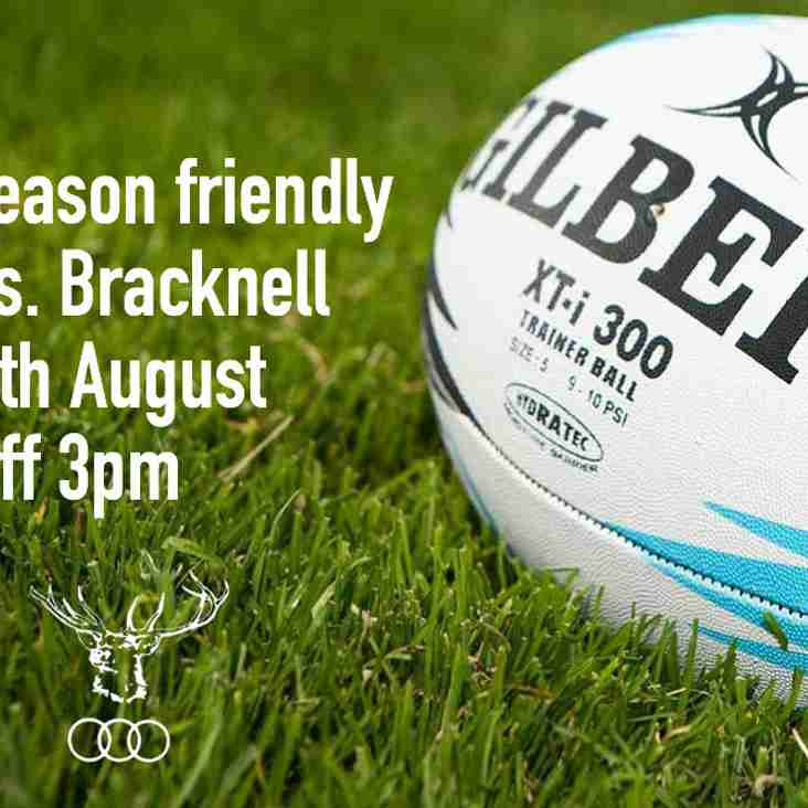 Bracknell pre-season friendly this Saturday, 3pm Weedon Lane