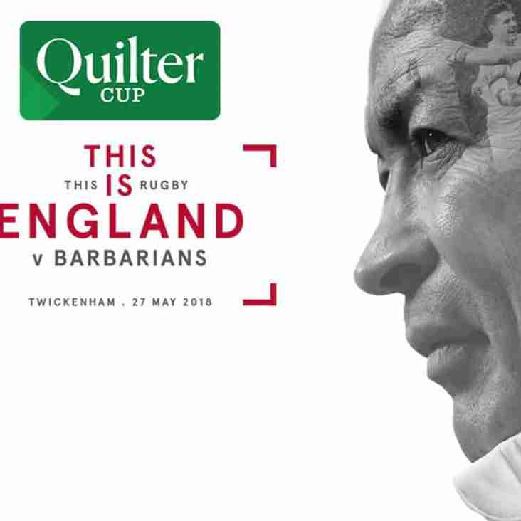 BoxShare at Twickenham ~ England v Barbarians Sunday 27th May, Kick-off 3-00pm