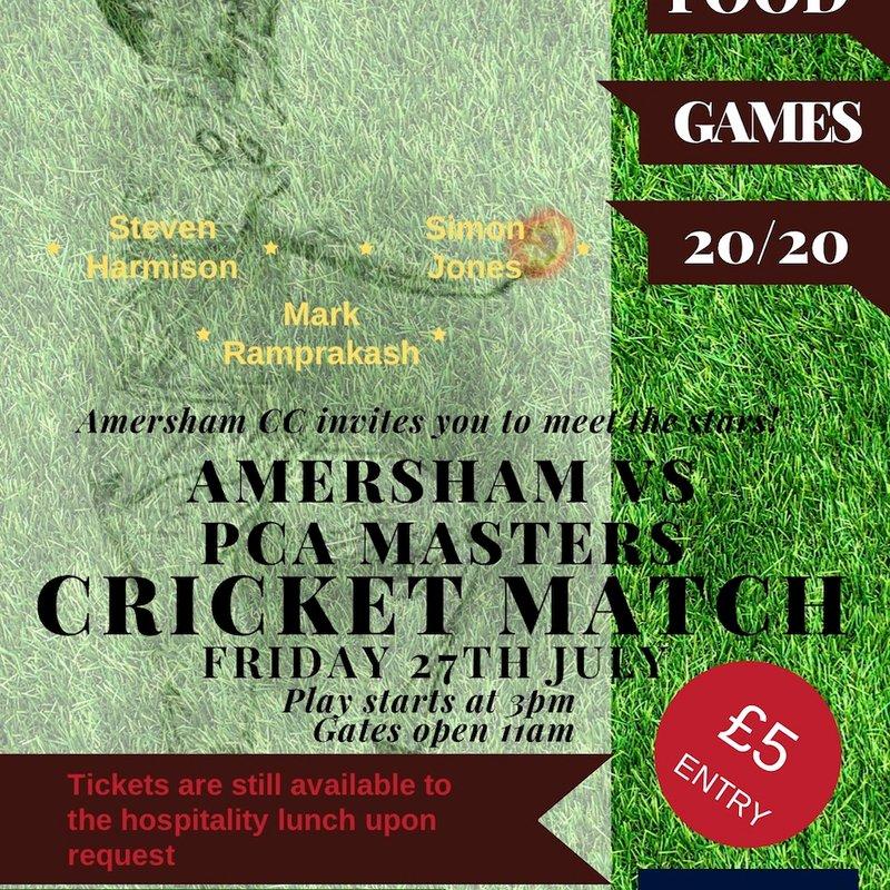 Amersham vs PCA Masters Cricket Match