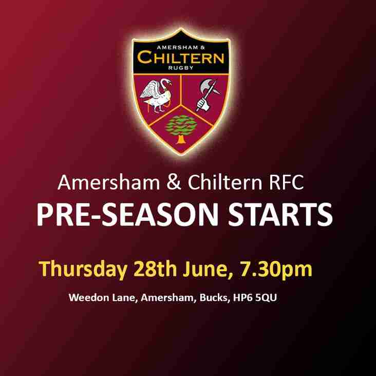 Pre-Season starting 28th June