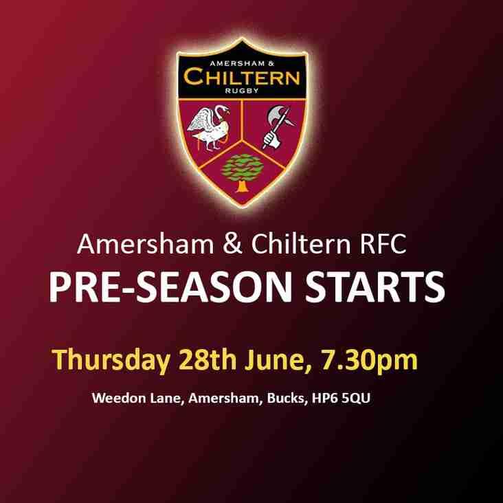 Pre-Season starting 28th June