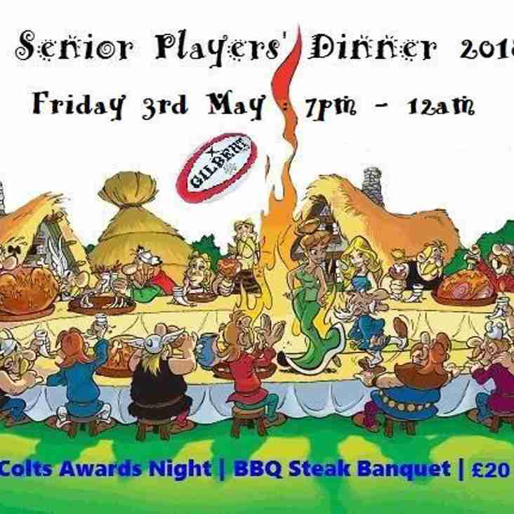 Senior Players Dinner 2019