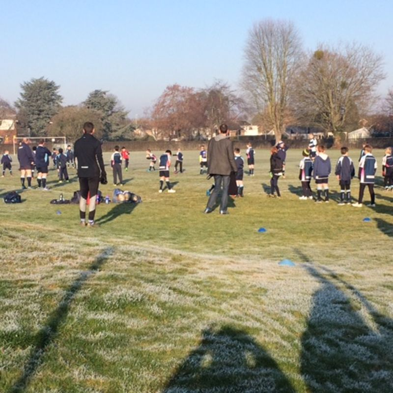 A bit of frost won't stop us!