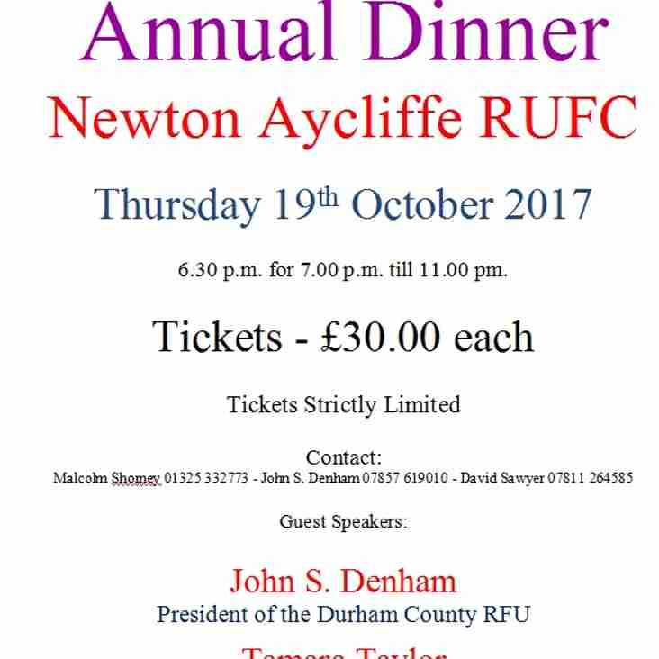 Annual Referee's Dinner 2017