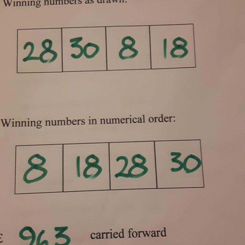 Club lotto...latest winners