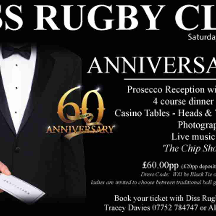 DISS RUGBY CLUB ANNIVERSARY BALL