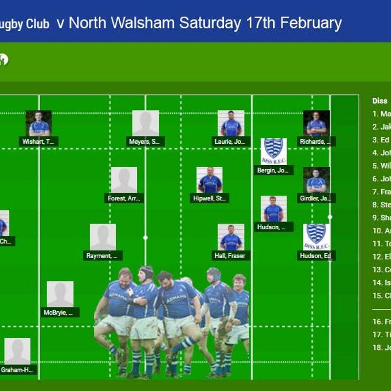 Diss 1st XV v North Walsham 1st XV