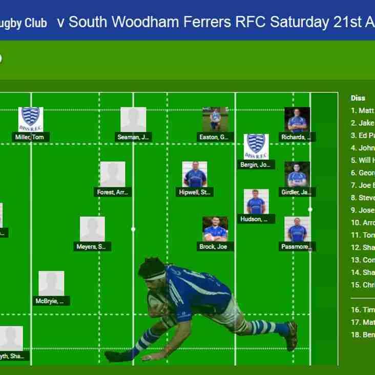 Diss 1st XV v South Woodham Ferrers 1st XV