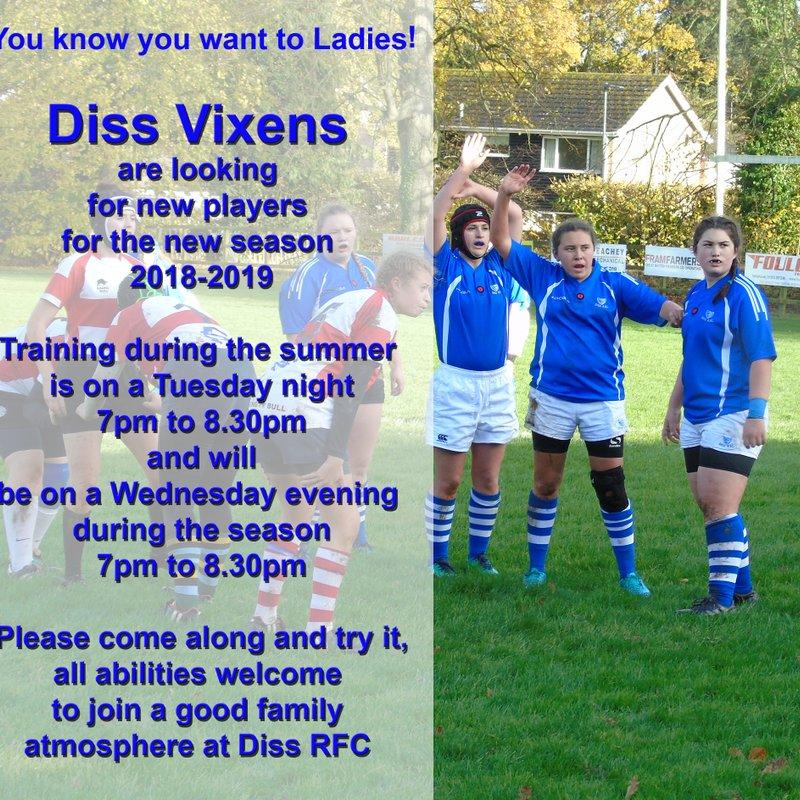 Join Diss Ladies Vixens