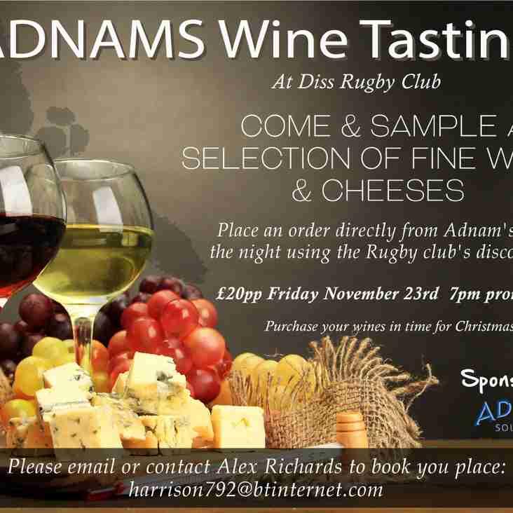 Adnams Wine Tasting