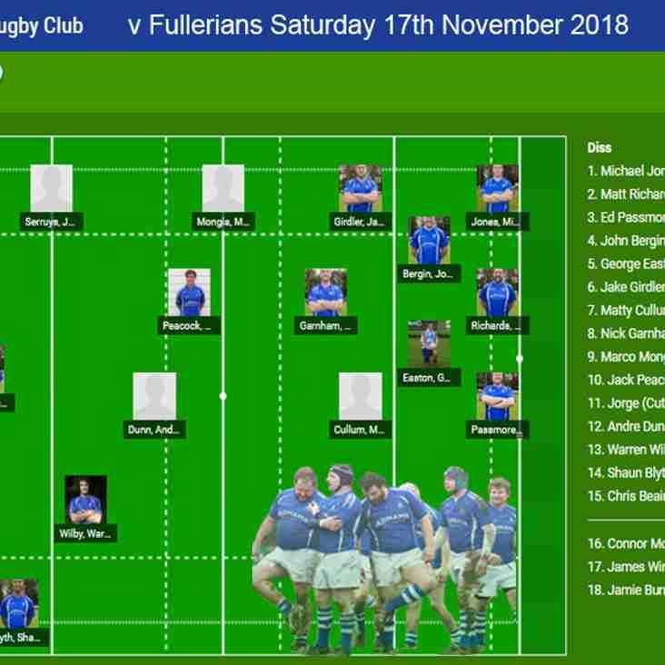 Diss RFC v  Fullerians RFC