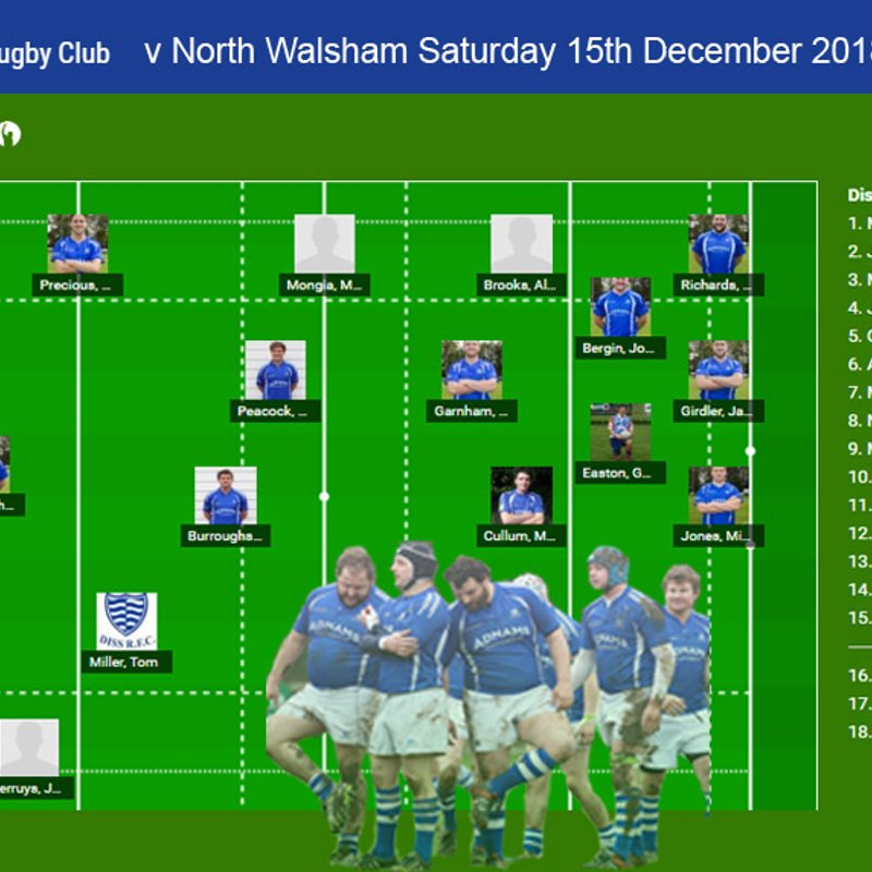 Diss RFC  v   North Walsham RFC