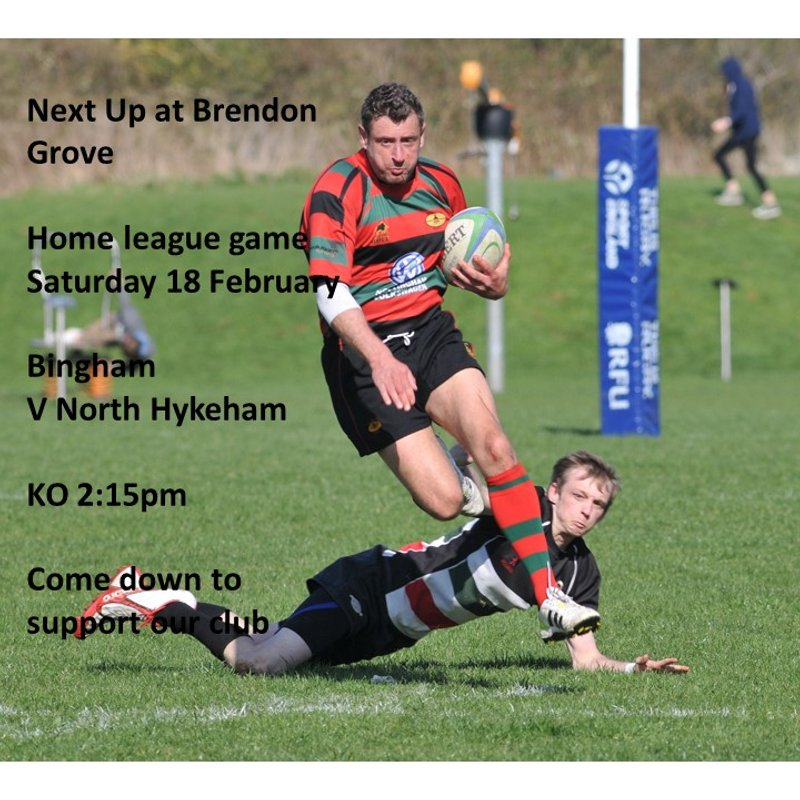This Saturday - home league game v North Hykeham