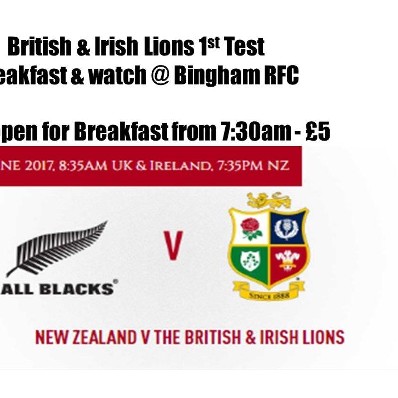 British Lions 1st Test & Breakfast