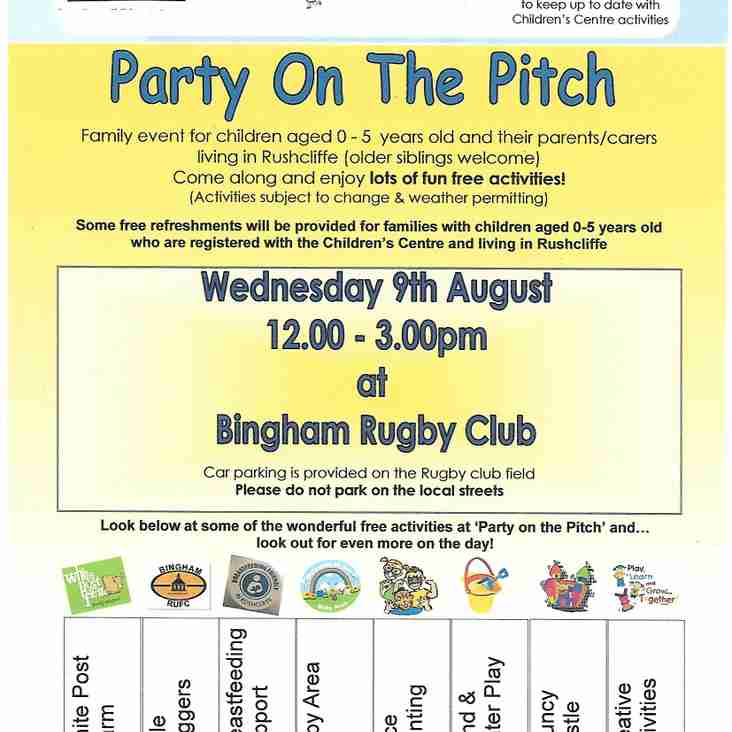 Party on the Pitch Wednesday 9th August