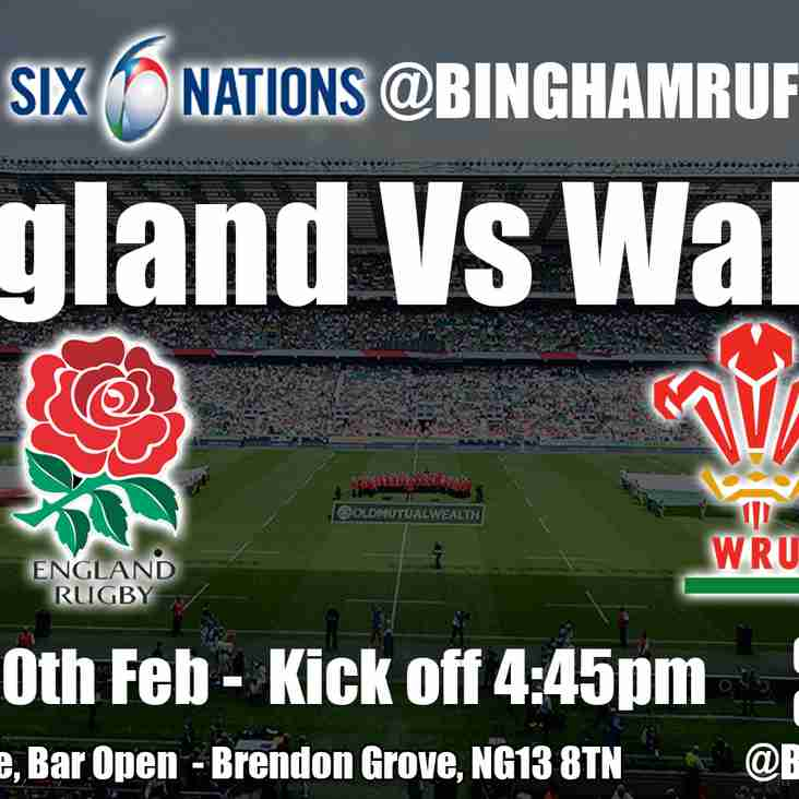 Eng v Wales on the Big screen this Saturday