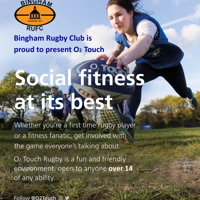 #O2Touch at Bingham RFC