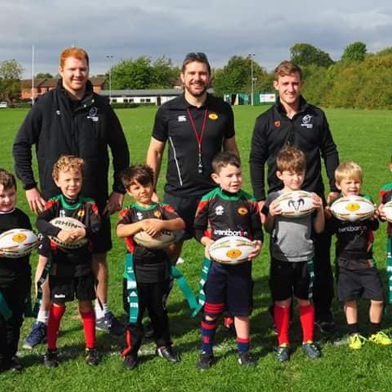 Bingham U7 have 1st taste of competitive Rugby