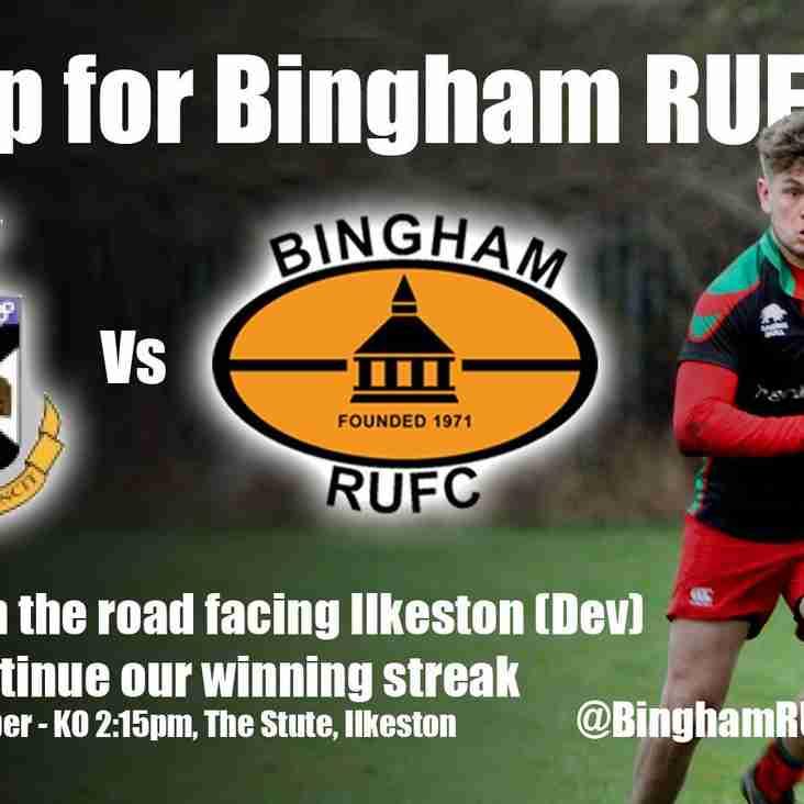 Away to Ilkeston Dev XV this Saturday