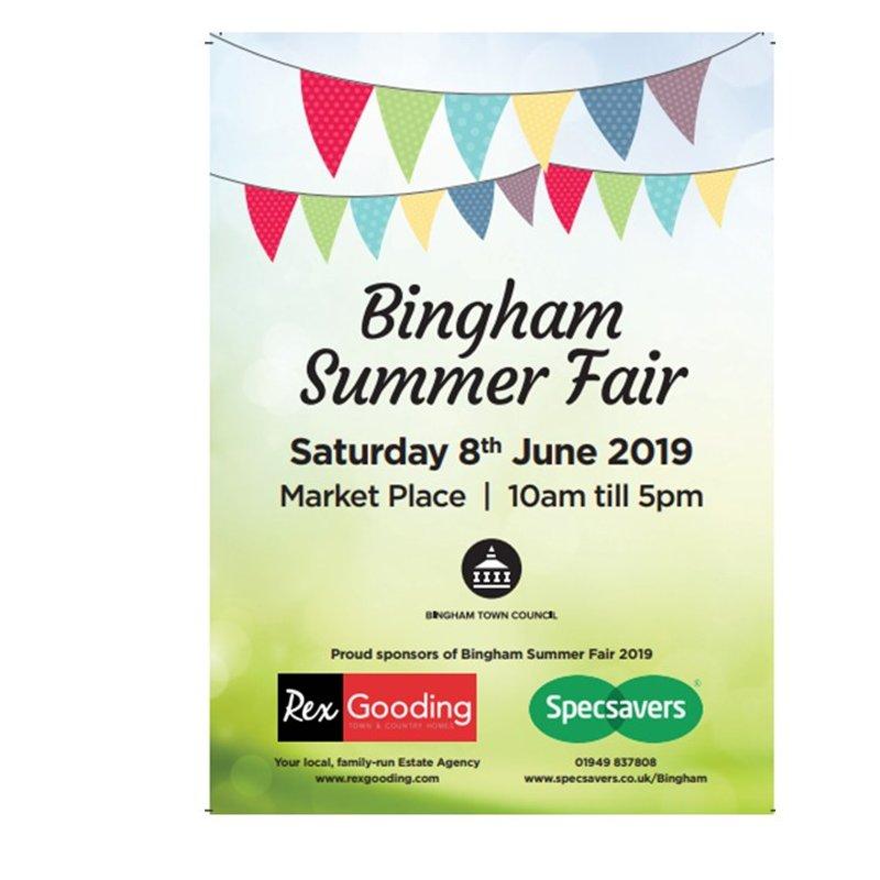Bingham Town Summer Fair - next saturday & Help needed