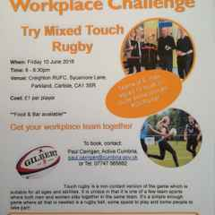 Workplace Mixed Touch Rugby