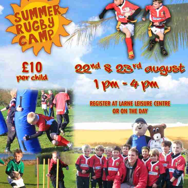 Larne RFC Summer Rugby Camp - A Big Hit!
