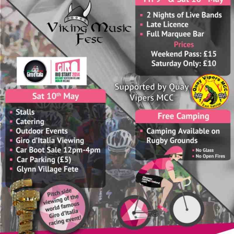 Viking Music Fest & Giro d'Italia Weekend 9th-10th May 2014