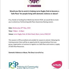 Safe Place Domestic Violence Information Evening