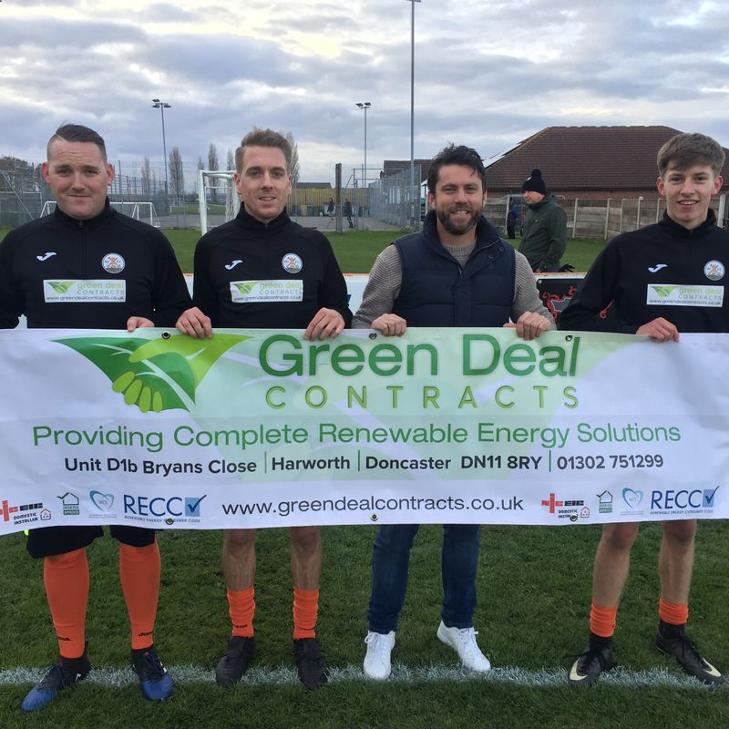 Greendeal Contracts proud match day and training gear Sponsors
