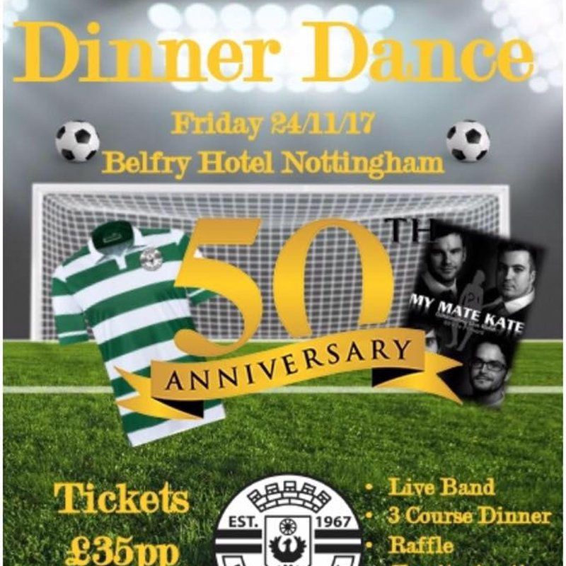 Priory Celtic 50th Anniversary Dinner Dance.