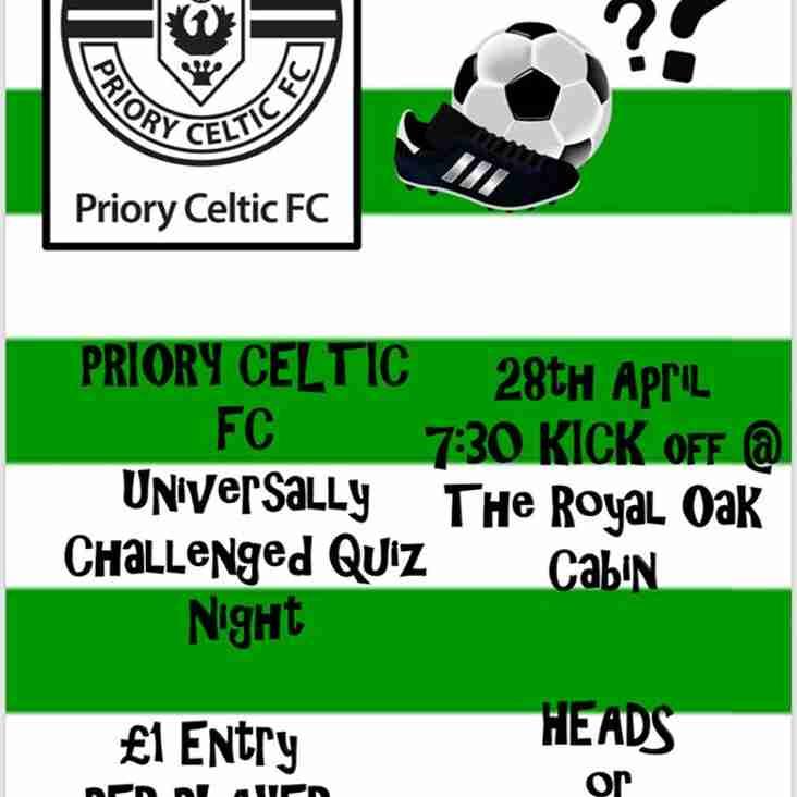 Priory Celtic Quiz Night
