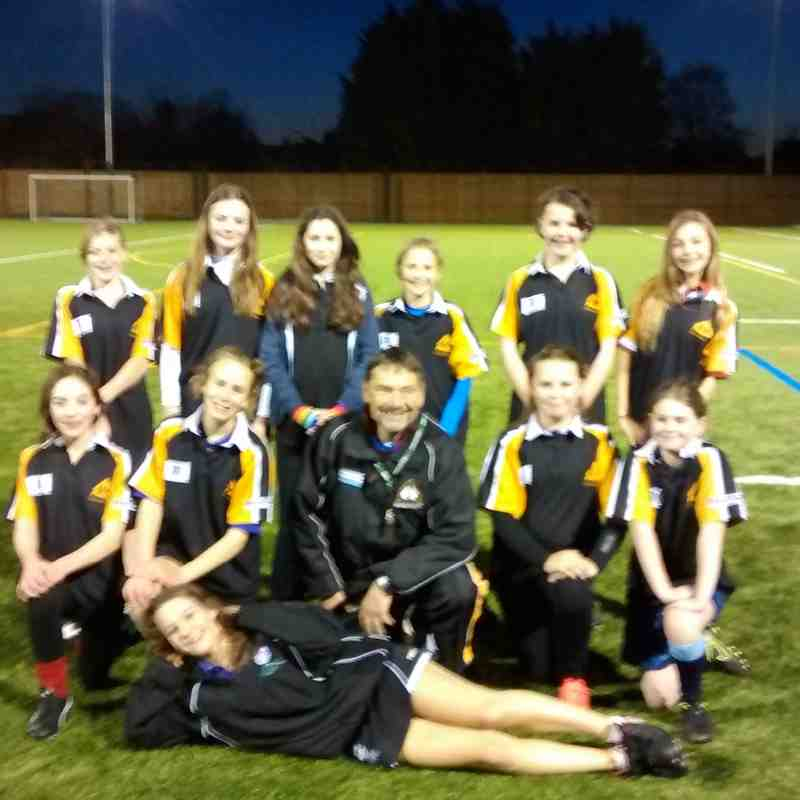 U13 Girls Team who played Weldon