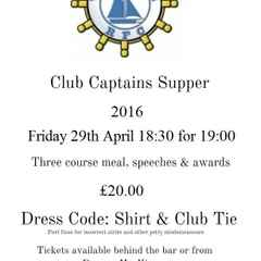 Club Captains Supper