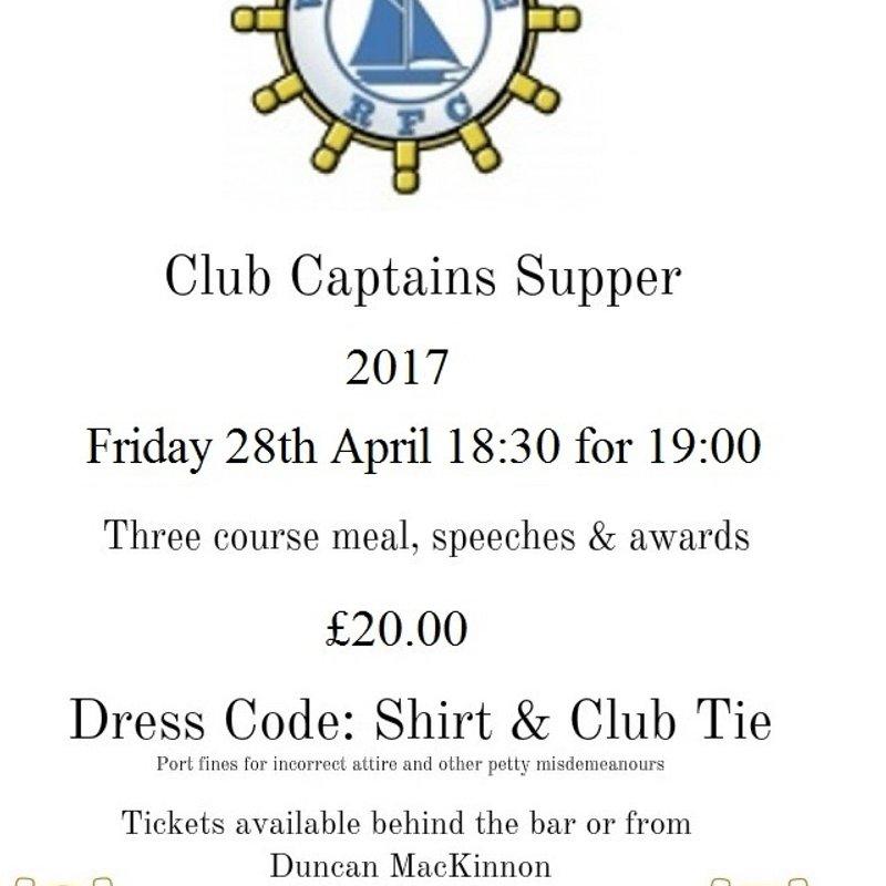 Club Captain's supper 2017