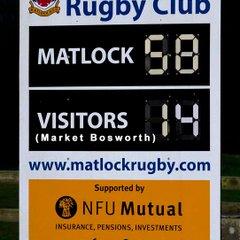 Matlock 58  v  Market Bosworth 14