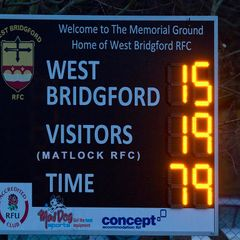 Matlock 19 v West Bridgford 15