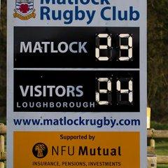 Matlock 23 v Loughborough 24