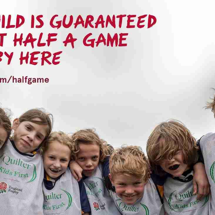 IMPORTANT ANNOUNCEMENT: Half Game