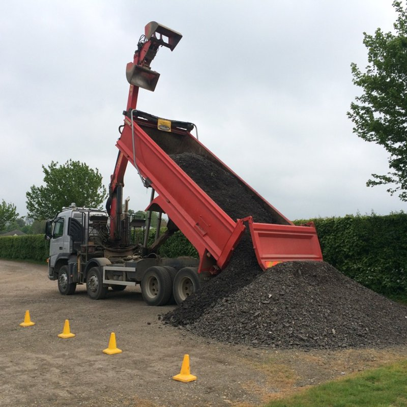 Link Road Contractor Carillion plc donate 50 tonnes of scalpings for our driveway...