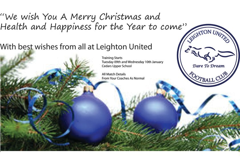 Merry Christmas from all at Leighton United FC