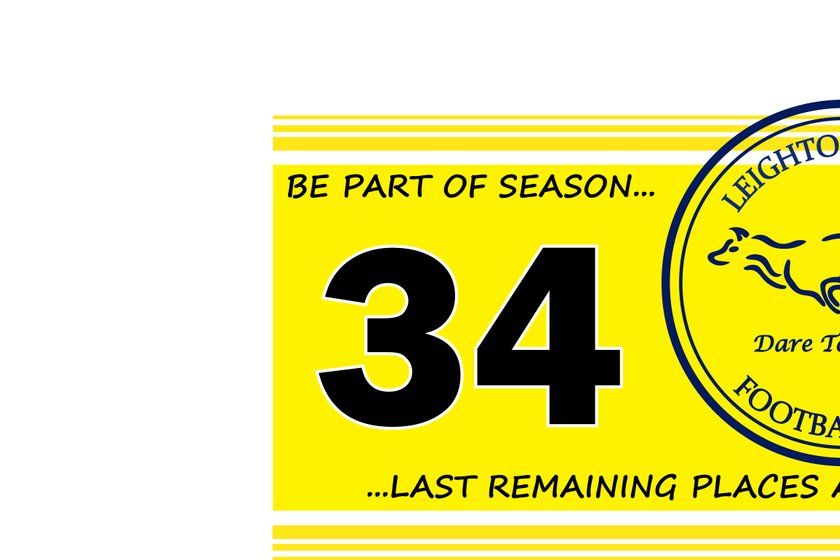 Player places available - be part of our 34th season